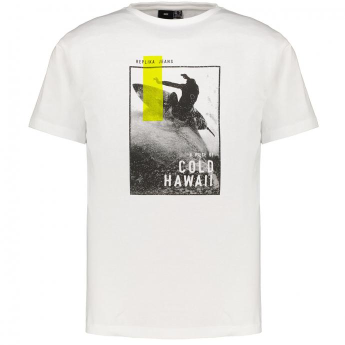 """LässigesT-Shirt mit """"Surfer"""" Print weiß_0000   3XL"""