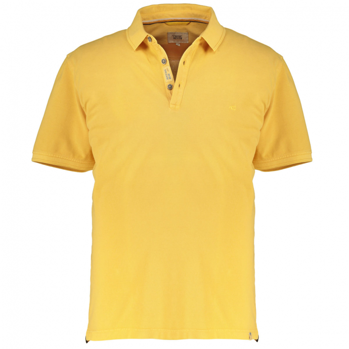 Bequemes Poloshirt mit spezieller Färbung,  kurzarm gelb_61 | 5XL