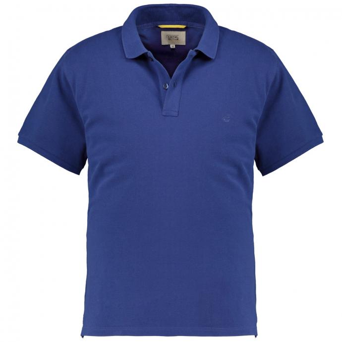Baumwoll-Poloshirt in Piquetqualität blau_18   3XL