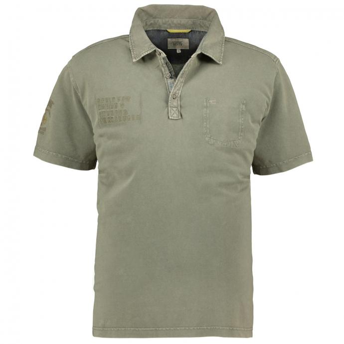 Lässiges Poloshirt mit besonderer Färbung oliv_73   3XL