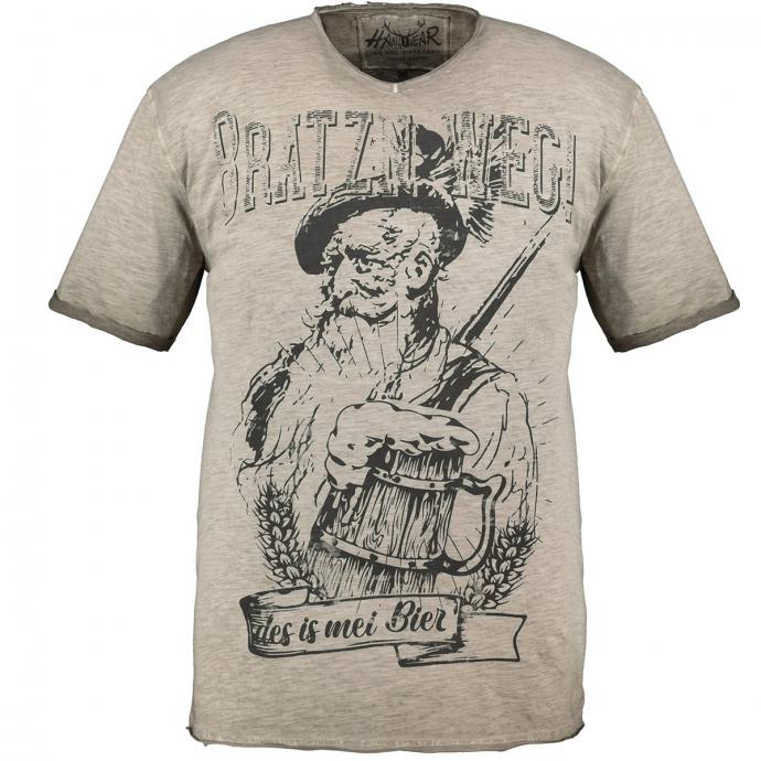 """Trachtenshirt mit """"Brazn weg!-des is mei Bier""""-Print beige_0101   3XL"""