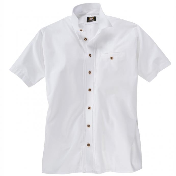 Trachtenhemd kurzarm mit Hornknöpfen weiß_01 | 5XL