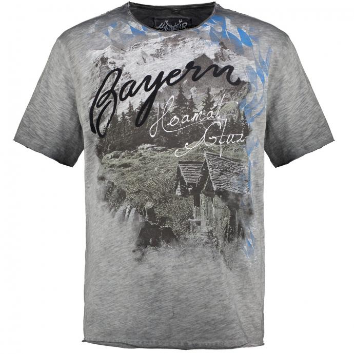 """""""Bayern Hoamat Gfui""""-T-Shirt grau_0201   3XL"""