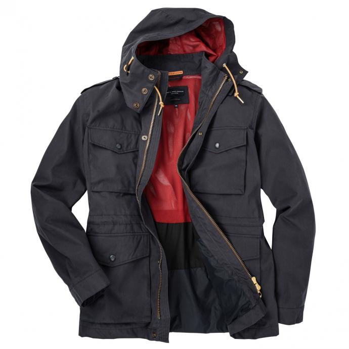 Leichte Jacke mit vielen Taschen und Kapuze marine_DARKNAVY | 3XL