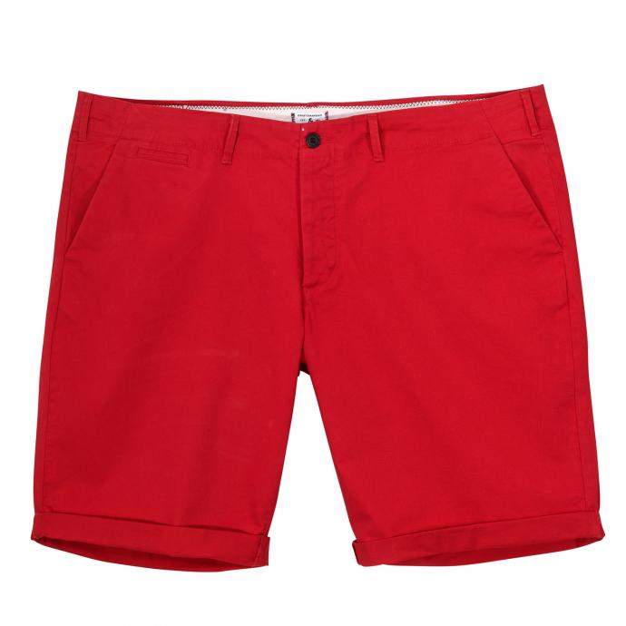 Bequeme Chino-Short mit Stretch-Anteil rot_RED | W54