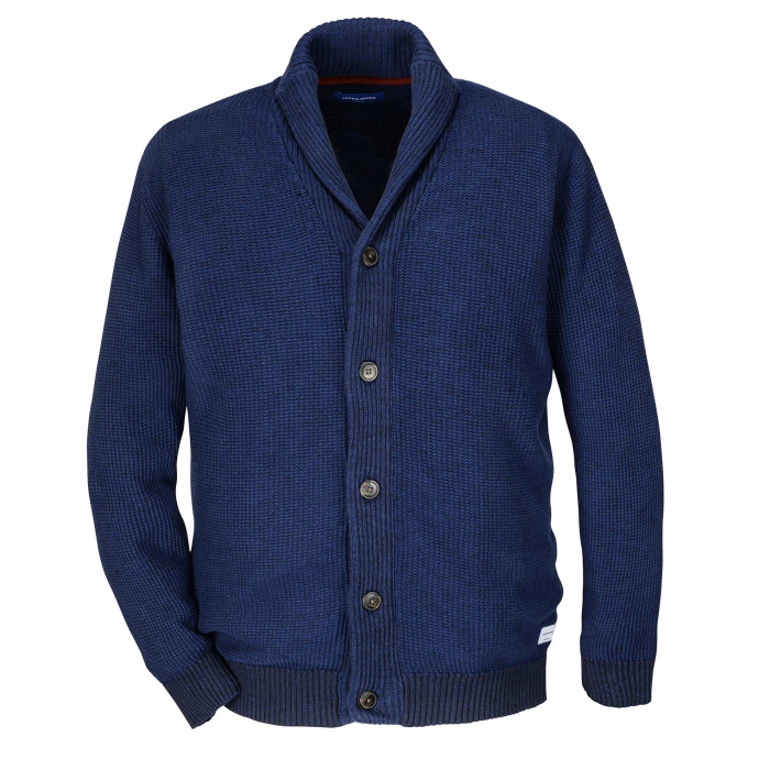 Stilvolle Strickjacke blau_BLUE | XXL