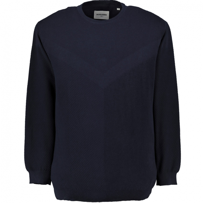 Pullover mit verschiedenen Strickmustern marine_SKYCAPTAIN | 6XL