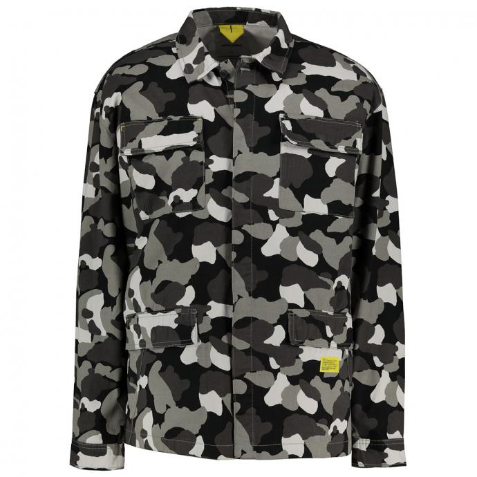 Leichte Jacke in Camouflage Optik khaki_WILDDOVE   3XL