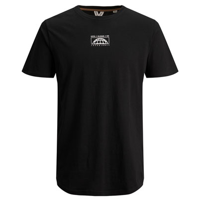 "Rundhals-T-Shirt mit Print ""Aspen//Colorado//USA"",  aus Baumwoll-Stretch schwarz_BLACK 