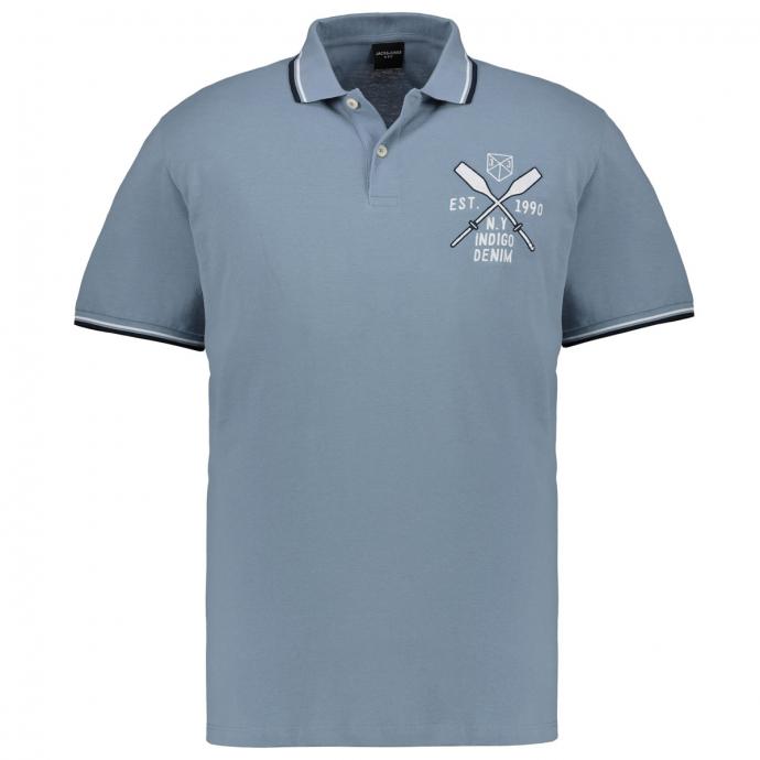 Maritimes Poloshirt grau_FADED | 3XL