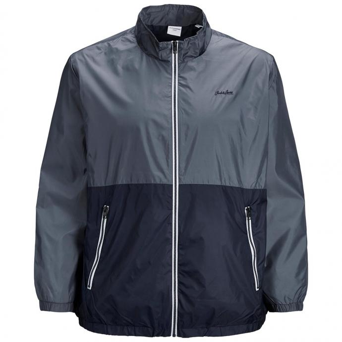 Ultraleicht Jacke im Colorblock graublau_OMBREBLUE   4XL