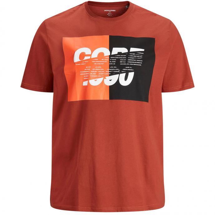 T-Shirt mit Print im Club-Style rot_RED | 3XL