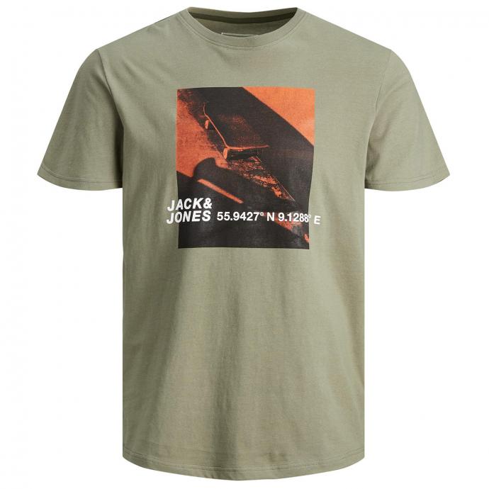 T-Shirt mit Skater-Print grün_GREEN | 5XL