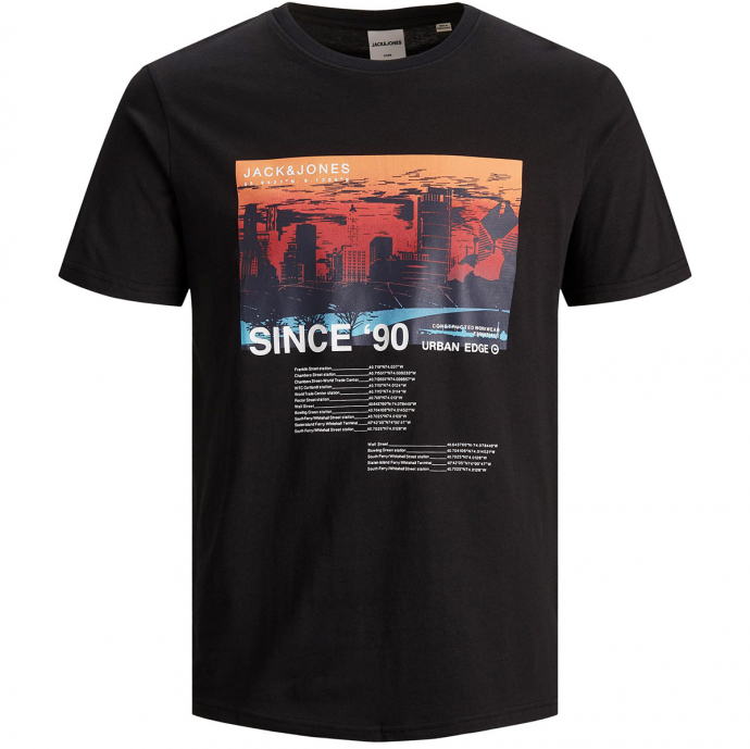 "T-Shirt mit Fotoprint ""Since '90"" schwarz_BLACK   3XL"