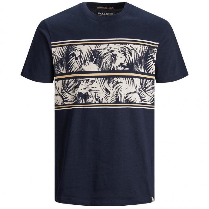T-Shirt mit Tropical-Print marine_NAVY   3XL