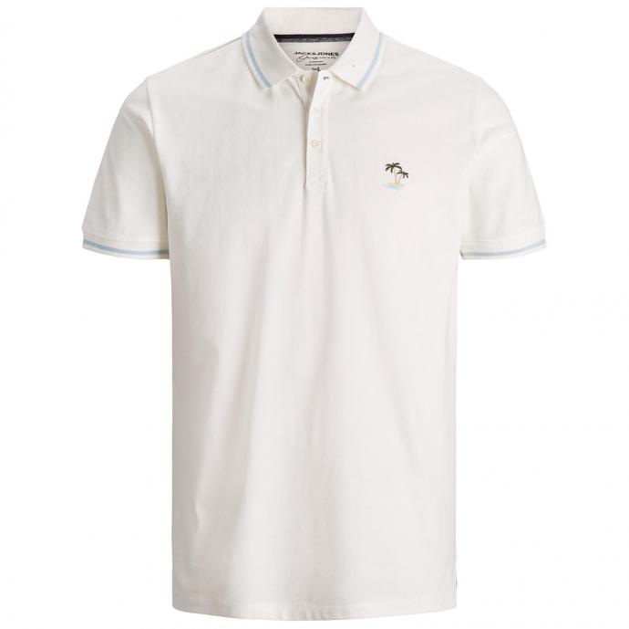 Poloshirt aus Baumwollpique mit Stickerei, kurzarm beige_CLOUD   3XL