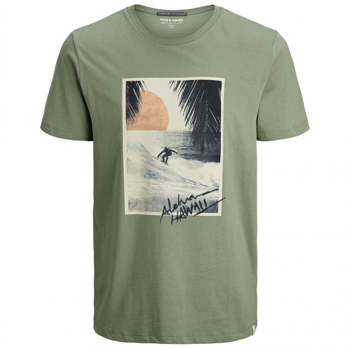 "T-Shirt mit ""Surf's Up""-Print grün_SEA   3XL"