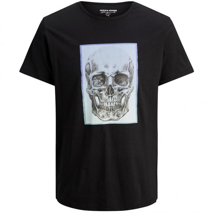 T-Shirt mit Skull-Print schwarz_TAPSHOE   3XL