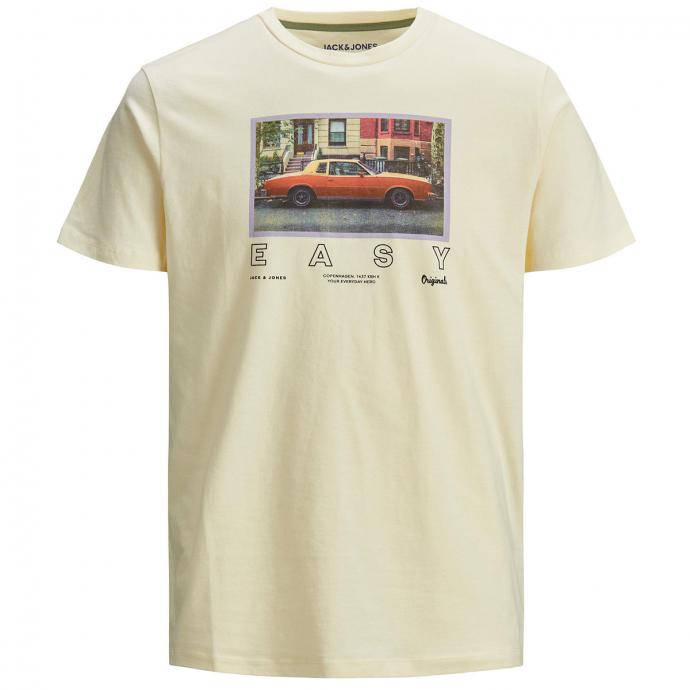 T-Shirt mit plakativem Print, kurzarm gelb_SEEDPEARL | 3XL