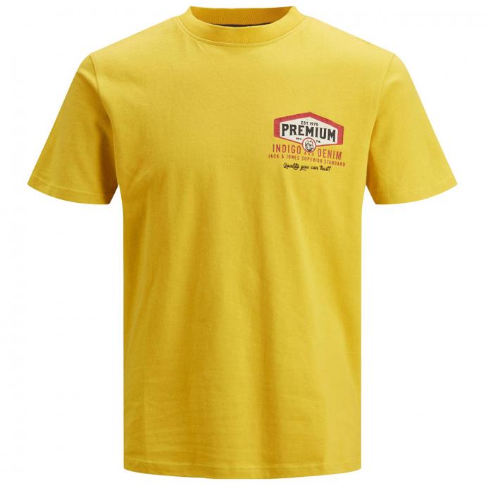 T-Shirt mit Retro-Motiv-Print gelb_SAUTERNE   3XL