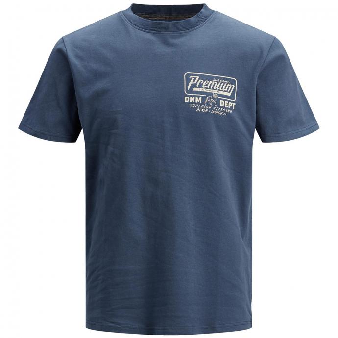 T-Shirt mit Retro-Print mittelblau_PEACOAT | 3XL