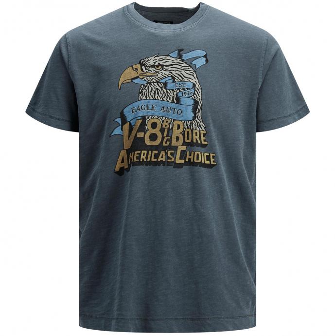 Flammgarn-T-Shirt im Vintage-Stil grau_COAT | 3XL