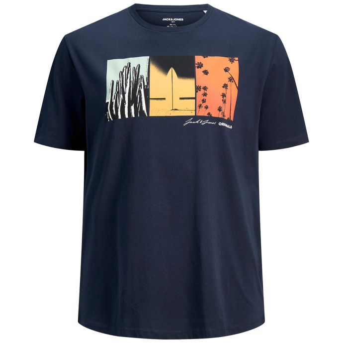 "T-Shirt aus Baumwolljersey mit Fotoprint ""California"", kurzarm marine_NAVY   3XL"