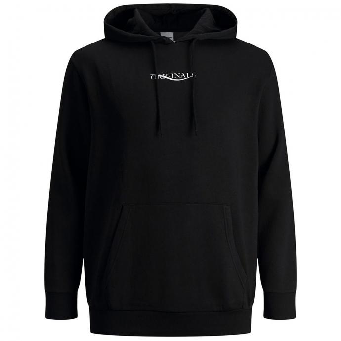 Hoodie mit Print auf Vorder- und Rückseite schwarz_BLACK | 3XL