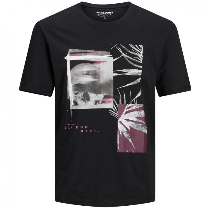 T-Shirt aus Baumwolljersey mit Scull-Motiv schwarz_TAPSHOE   3XL