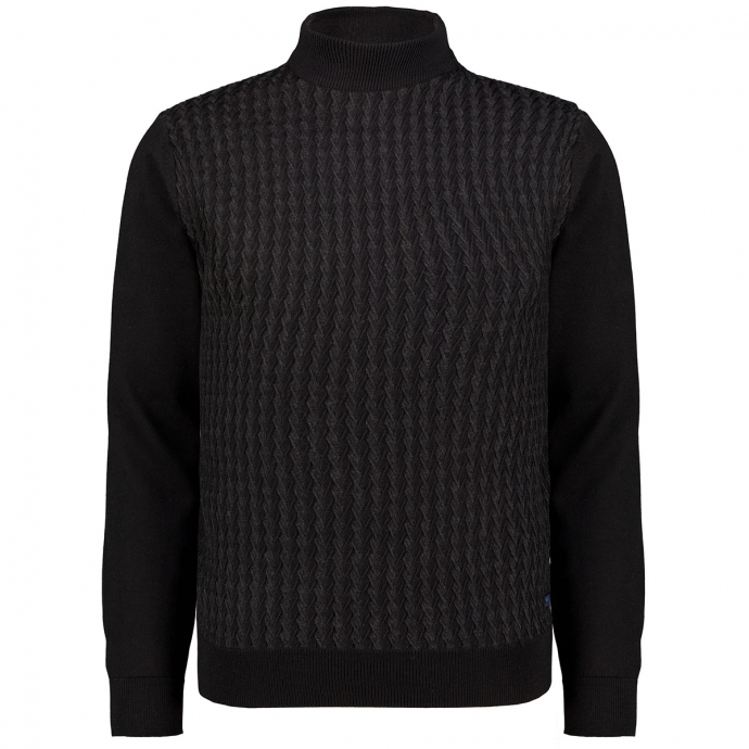 Pullover Rolli schwarz_2000 | 3XL