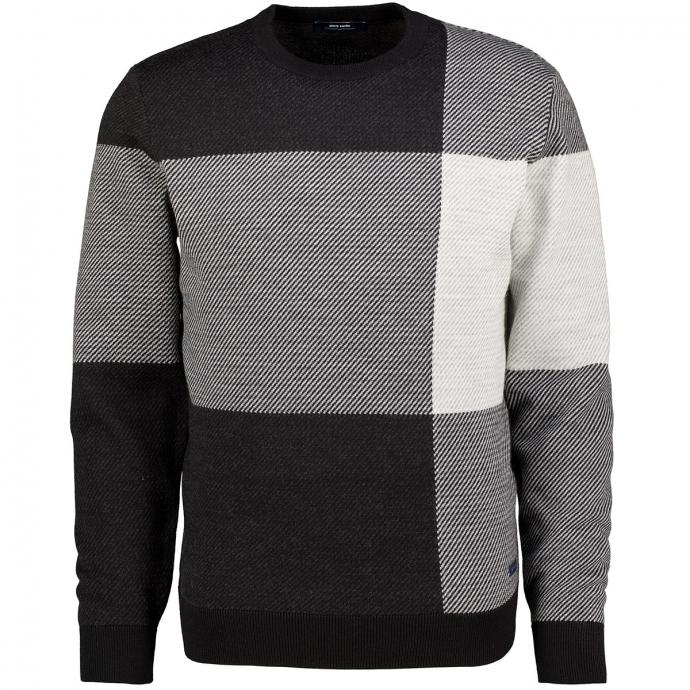 Pullover Rund grau/schwarz_2000/3010 | 3XL