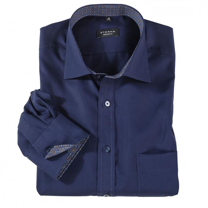 Bügelfreies Baumwoll-Cityhemd, langarm jeansblau_19 | 47