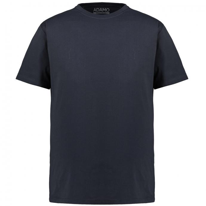 Basic-T-Shirt mit Rundhalsausschnitt dunkelblau_360   3XL