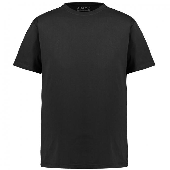 Meliertes T-Shirt mit Rundhalsausschnitt schwarz_700 | 3XL