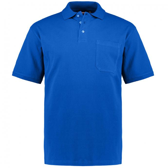 Poloshirt mit aufgesetzter Brusttasche, kurzarm azur_385 | 3XL