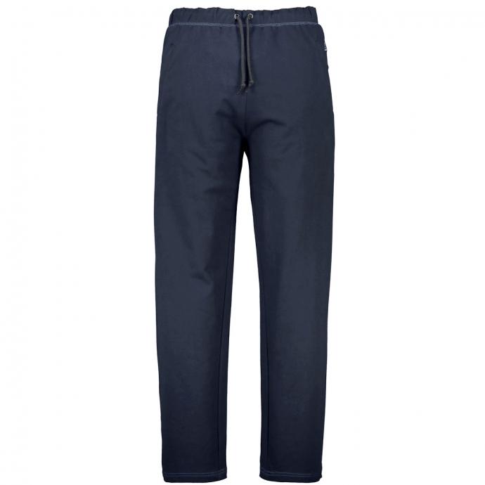 Bequeme Jogginghose mit Reißverschlusstaschen dunkelblau_360   3XL