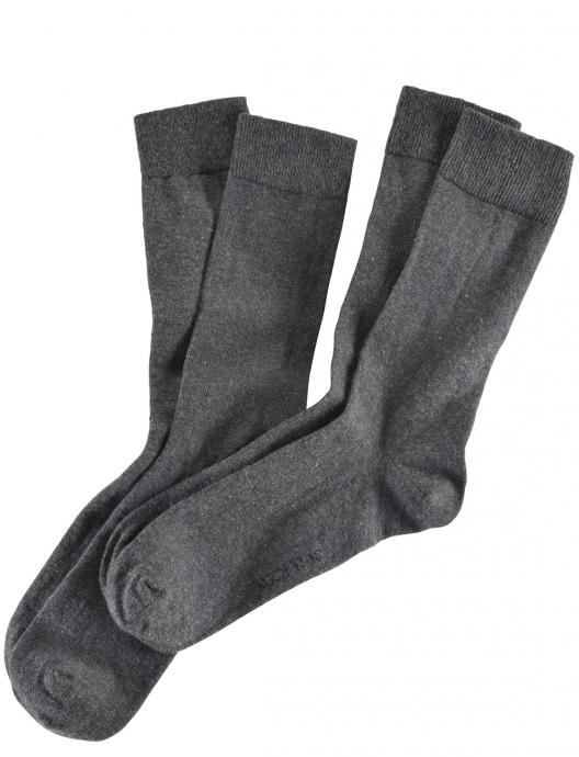 2er-Pack Socken mit Softrand dunkelgrau_300   43-46