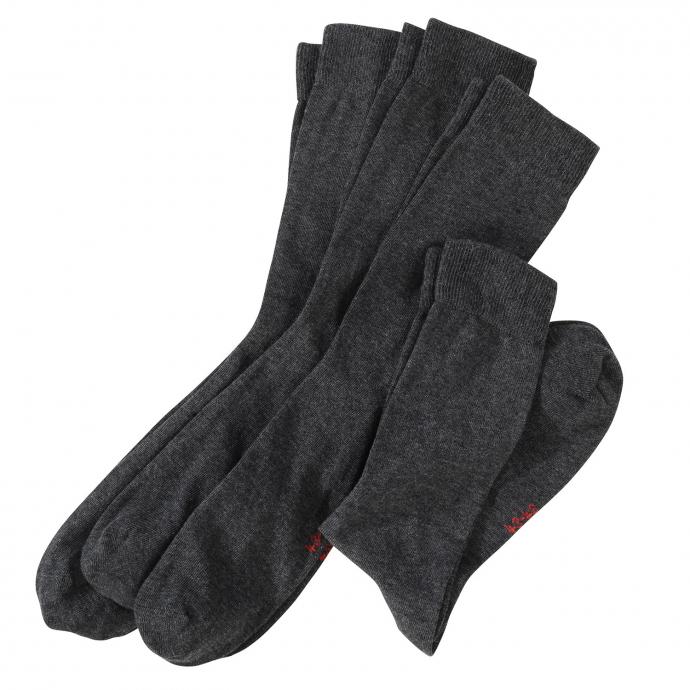 4-er Pack Socken, atmungsaktives Baumwollgemisch grau_170 | 47-50