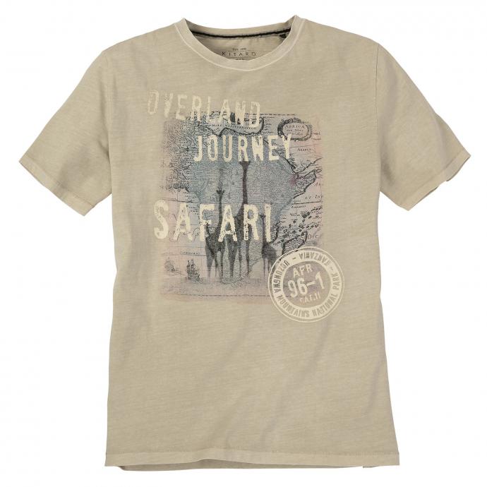 "Legeres T-Shirt mit aktuellem ""Overland-Journey-Safari""-Print beige_777   8XL"
