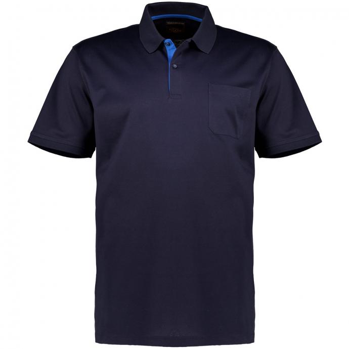 Klassisches Poloshirt mit Brusttasche, kurzarm dunkelblau_210   6XL
