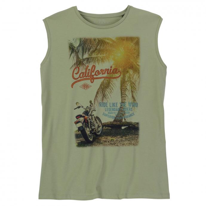 """Lässiges Tanktop """"California"""" khaki_5006   3XL"""