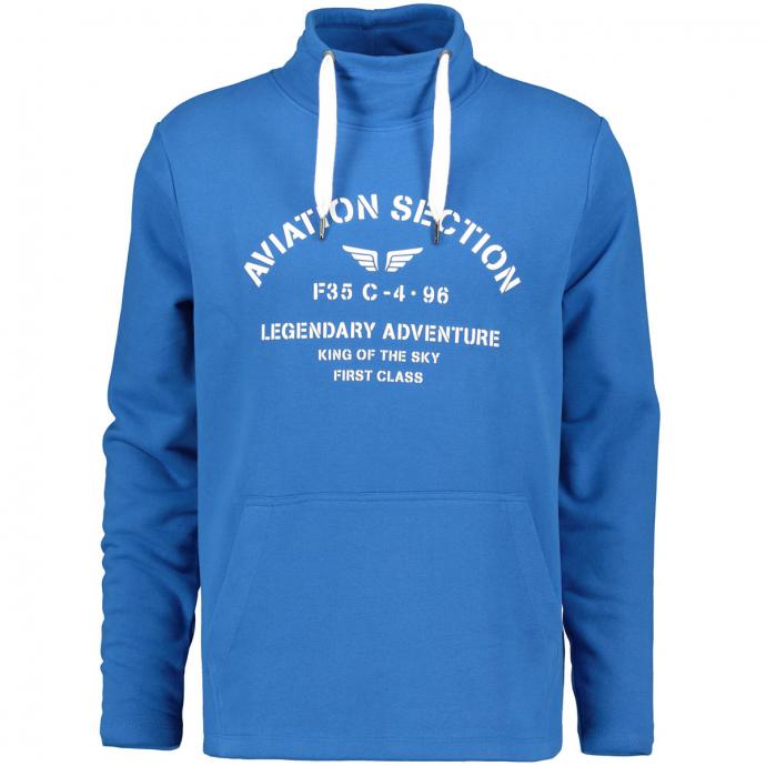 Sweatshirt mit Stehkragen blau_2282 | 4XL