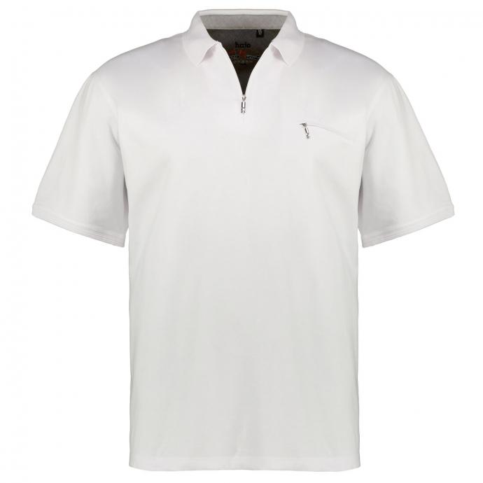 "Poloshirt ""Stay Fresh"" mit Zip, kurzarm weiß_200 | 5XL"