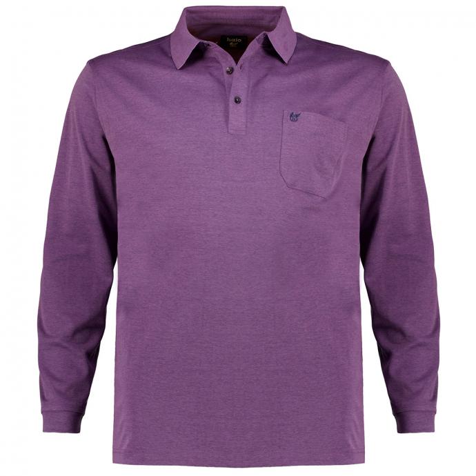 "Weiches Poloshirt ""Soft Knit & Stay Fresh"",langarm lila_700   3XL"