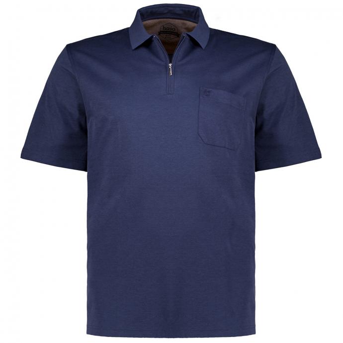 "Poloshirt ""Stay Fresh"" mit Zip, kurzarm dunkelblau_609 | 58"