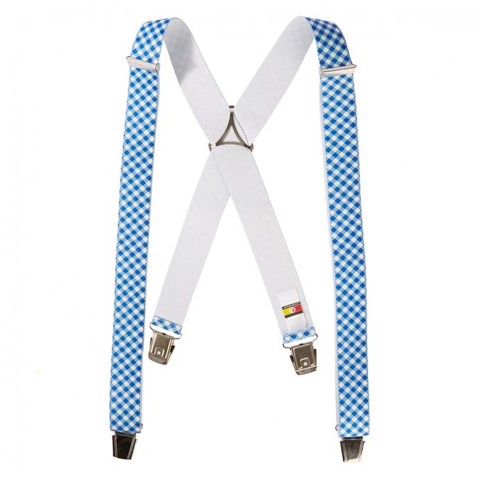 Hosenträger mit Vichy-Karo, extralang blau/weiß_507/4020 | 130