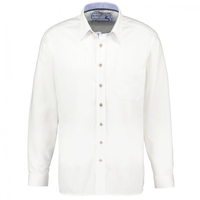 Struckturiertes Trachthemd  langarm weiß_41/20   3XL