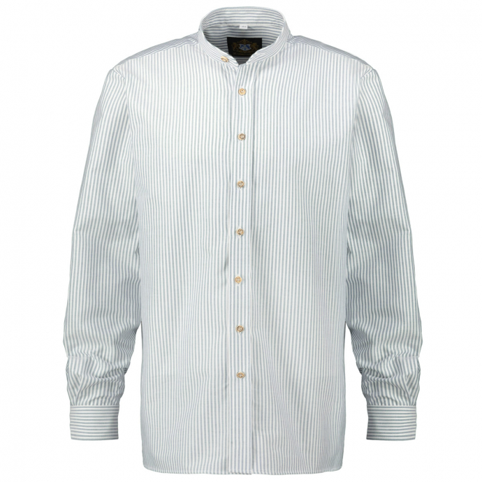 Gestreiftes Trachthemd  langarm blau/weiß_40/4020 | 3XL