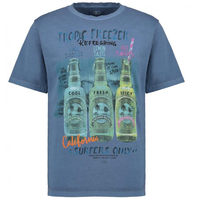 Cooles T-Shirt mit Flaschen-Print graublau_213 | 4XL