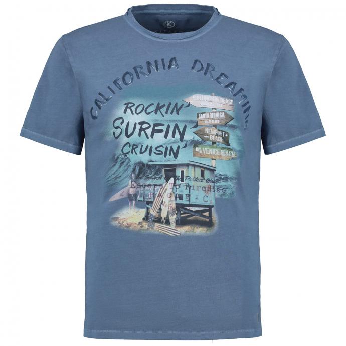 "Trendiges T-Shirt mit ""California Dreaming"" Print graublau_213 | 3XL"